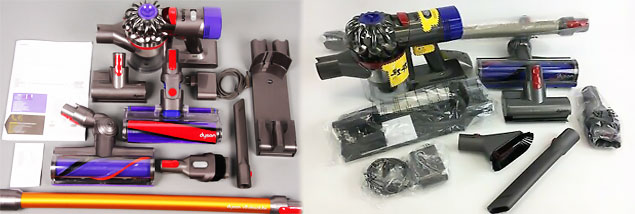 Inside the box of Dyson V8 Absolute and Animal
