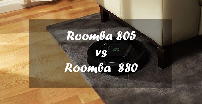 Roomba 805 vs 880-FI