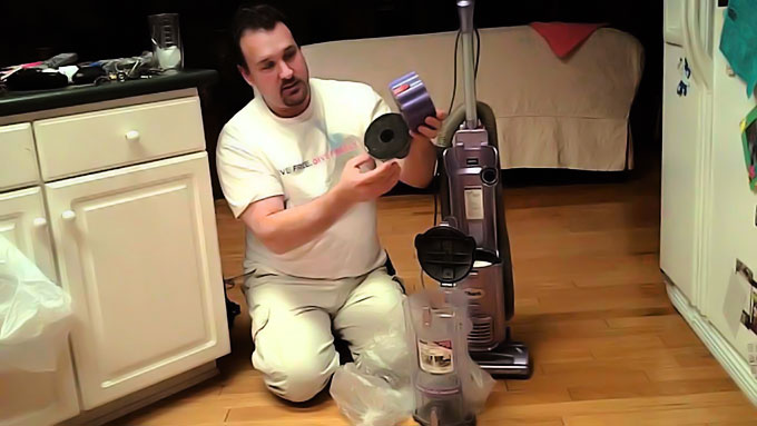 How do you clean the filter of your Shark Vacuum Cleaner